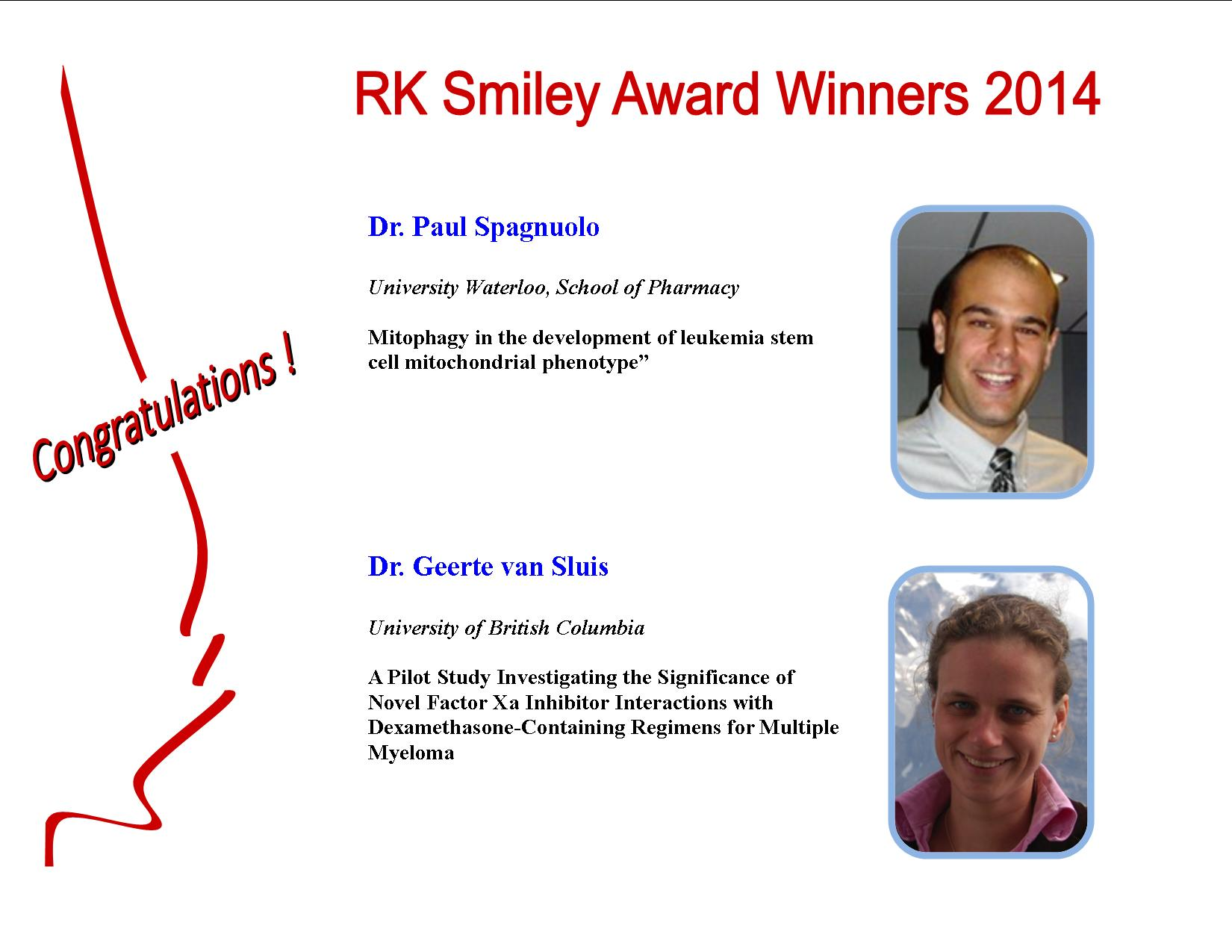 RK Smiley 2014 Winners Poster